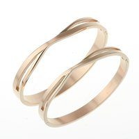 Wholesale New Style Silver Gold Black Plated Style Color L Stainless Steel Bangle Bracelet Factory Outlets