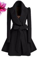bead weaving patterns - 2016 new large pure wool coat lapel dress long slim woolen coat coat with belt
