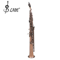 Wholesale LADE WSS Copper Soprano Bb Saxophone Carved Abalone Shell Key