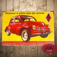 automobile garages - France CV salon de automobile Car Metal Tin Signs Garage Wall Decor Restaurant Bar iron Paintings