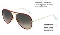 Acheter Or gros cadres lunettes-Nouveaux lunettes de soleil de style classique en métal de style JM Full Color 001 / X3 Or Rouge cadre de gradient lentille en verre de qualité supérieure gafas de sol