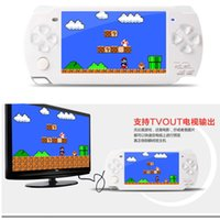 Wholesale 4 quot LCD screen TV Out handheld game player game console with GB MP5 player built in free games voice recorder camera with TF card Slot