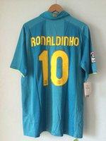 away ronaldinho - Retro High quality vintage2007 season away jersey Rolla Ronaldinho classic throwback jerseys Limited Stock