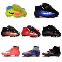 Wholesale Mens Women Kids Football Soccer Shoes Mercurial Superfly V FG CR7 Children Soccer Cleats For Boys Magista Youth Cristiano Ronaldo Original