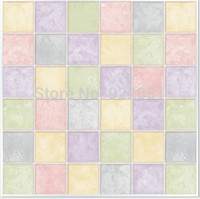 Wholesale PVC self adhesive colorful Mosaic wallpaper Waterproof high quality wall sticker home decor kitchen bathroom