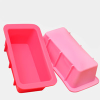 baking tile - Various Types Of Food grade Silicone Cake Baking Temperature Trumpet Toast Squares Tiles Handmade Soap Mold Brick Soap Box environmental