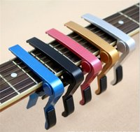 Wholesale Electric Acoustic Guitar Capo Bass Violin Ukulele Capo Single handed Tune Clamp Trigger Material Metal