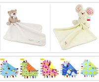 Wholesale Cute Bear Baby Blanket cm Soft Coral Fleece Baby Toys Learning Education Baby Care Products High Quality YYT087 YYT088