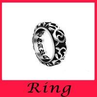 Wholesale Mens Biker Rings For Men Geometric Siver Ring Couple Fashion Engagemen Unisex Relief Real Titanium Set Silver Plated Mens Titanium Rings