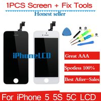 Wholesale Replacement full screen for iPhone S C LCD display touch screen digitizer frame Assembly inch free tools piece