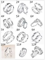 Wholesale 2016 New Brand Silver Plated Rings For Women bijoux Fashion Crystal Wedding Jewelry anel masculino Couple Rings For Lovers