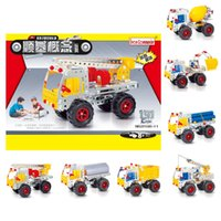 Wholesale 2016 Kids Toys Iron Building Blocks Sets Iron Commander Children toys For Gift Items Diy Metal Construction Truck Bricks One Piece