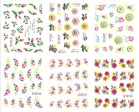Wholesale 2016 HOT sale nature flowers design water transfer nail sticker for finger beauty cheap price factory direct supply
