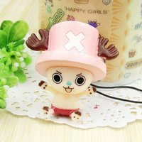 Wholesale 6pcs Japanese Anime ONE PIECE cellphone chain styles for choosing Mobile Cell Phone Strap Pendant
