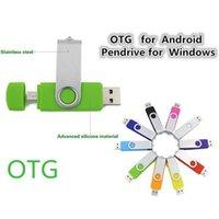 Wholesale Colorful OTG USB Flash Drive Memory Sticks Real GB GB GB GB Free Customized Logo USB Flash Drives