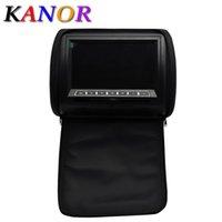 Wholesale Car Headrest Car DVD Player Black Gray Beige Universal Digital Screen zipper Car Monitor USB FM TV Game IR Remote Support Russian
