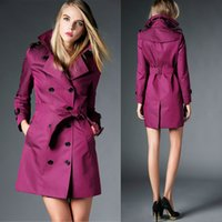 Wholesale 2016 Casual Girls Winter Fall Coats Top Brand Designer For Women Trench Coat Cotton Red Khaki Plus Size XL BC1093