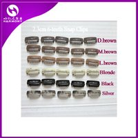 Wholesale 100pcs hair extension snap weaving wig toupee clip black brown blonde color mm teeth