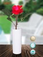 Wholesale Real touch PU rose led flower With Led night light valentine s day Home decoration Christmas party supplies wedding festival gift