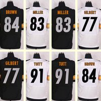 antonio brown jersey white - 2016 New Men s Stephon Tuitt Antonio Brown Heath Miller Marcus Gilbert Blank Black White Elite jerseys Top Quality