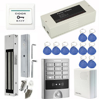access control supplies - Access Control System With LBS kg Electromagnetic Lock Power Supply Control Doorbell Exit Button RFID Cards F1253Z