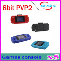 Wholesale 5pcs PVP2 PVP Game Player inch screen Games Console BIT AV output Multi Colors ZY PVP2