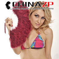 acting factory - CHINAZP Factory Top Quality Elegant Burgundy Marabou feather hand fan costume fun act Burlesque Decor Dancing