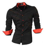 Wholesale 2016 casual shirts dress male mens clothing long sleeve Single Breasted social slim fit brand boutique cotton western button