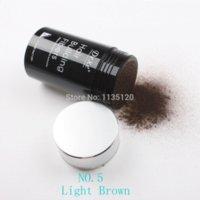 Wholesale Hot sale bottle Dexe g Light Brown color Hair Building Fibers hair lady