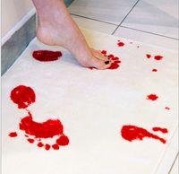 Wholesale VDOMUS Unchanging Colour Bloody Bath Mat Non slip Bathroom Mats Doormat