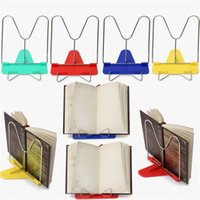 Wholesale 1Pcs Portable Adjustable Bookends Stand Angle Foldable Reading Book Stand Document Holder Base Bookshelf Reading