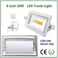 aluminum rectangular bar - 8 INCH High Quality W rectangular gimble Led downlight COB with Epistar LED for household decorative lighting hotel bar