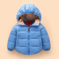 Wholesale 2016 new winter jacket cuties baby boys and girls AONISI hooded thin padded down