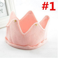 Wholesale Crochet Crowns For Babies - Cute Knit Crochet Imperial Crown Headband Headwear Photo Prop Outfits For Baby Brand New and High Quality