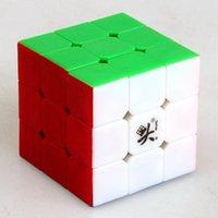 al por mayor dayan juguete-Dayan Zhanchi V5 42mm Mini de tres capas 3x3x3 velocidad cubo mágico juego de rompecabezas Cubos juguetes educativos para niños Niños