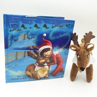 acrylic book - 2016 hot elk book A Traditon story Hard soft Books with Reindeer Plush Toys chriatmas gift