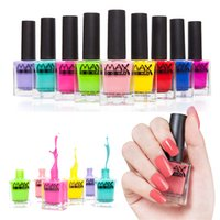 Wholesale 30 Colors Brand Makeup Maxdona ml UV Gel Nail Polish Lacquer Long Lasting Peel Off Nail Gel Varnish Glitter UV Lamp