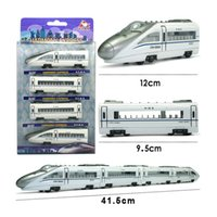Wholesale 4PCS Combined assembly Alloy train car models railcar model of the magnet locomotive carriage kid toy gift