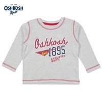 basketball shirts for boys - OshKosh Basketball Style T shirts for Boys Autumn Outdoor Sports Clothes Long Sleeves Classic Tee Kids Tops Grey Cotton T shirts