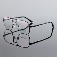 Wholesale High quality Pure Titanium Men aviator Sunglasses Eyeglasses Frame Large Size