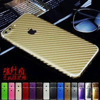 Wholesale Carbon Sticker For Mobile Phones - Hot full body carbon fiber film sticker for mobile phone for iphone 5s 6s 6s plus 7s 7s plus