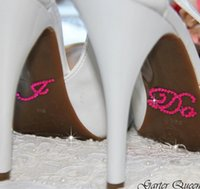 diamante shoes - 2 Set Creative I Do Me Too Wedding Appliques Bride Shoes Rhinestone Crystal Sticker Diamante Love