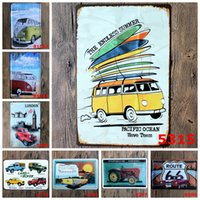 auto metal polish - endless summer route auto classic Coffee Shop Bar Restaurant Wall Art decoration Bar Metal Paintings x30cm tin sign