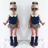 baby knickers outfit - INS Summer Girl Baby Infant Toddlers Short Tops Tees Vest Shorts Suits Children Sleeveless Shirt Knickers Bloomers Outfits Clothing Sets