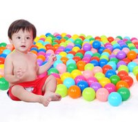 ball pit balls - 2016 Brand New hot plastic pool balls Toy PE colorful soft Tasteless Ocean ball Swim Pit Toys