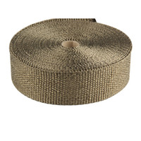 Wholesale Motorcycle Pipe Titanium Exhaust Header Heat Wrap inch m Roll With Pieces Stainless Steel Ties