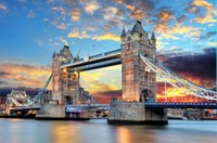 Wholesale Tower Bridge of London sunset below The wooden puzzle pieces of adult children s educational toys