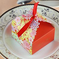 Wholesale pack Gift Box Party Valentine Bonbonniere Sweet Boxes with Ribbons Wedding Favors Candy Bags Casamento Decor JM0215