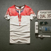 Cheap 2016 Harajuku Wing Feathers t shirts tshirts for men 3D Marcelo Burlon T Shirt Short Sleeve Tee Shirts Camisetas BY DHL