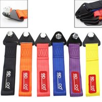 Wholesale SPA tow strap Universal High Quality Racing car tow strap tow ropes Hook Towing Bars red blue purple orange black yellow H038